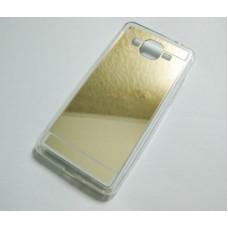 Чехол Samsung G530, G531 Grand Prime зеркальный силиконовый золотой