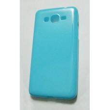 Голубой силиконовый чехол Samsung Grand Prime накладка для Samsung G530, G531
