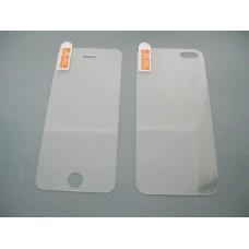 Защитное стекло iPhone 5, 5С, 5s комплект 2 стороны закаленное олеофобное покрытие
