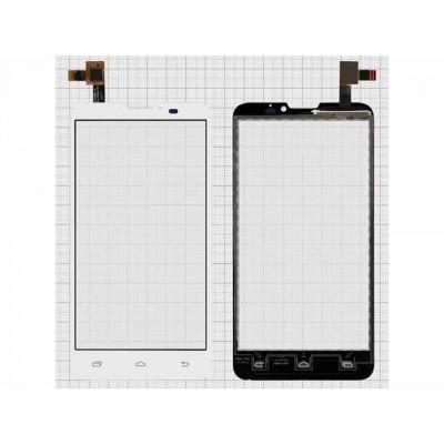 Тачскрин для Prestigio pap5300, pap-5300 MultiPhone DUO белый (стекло, внешний сенсорный экран)