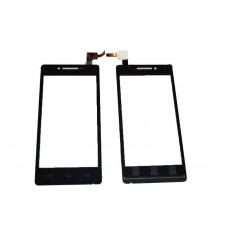 Тачскрин для Prestigio PAP5450, PAP-5450 MultiPhone черный (стекло, внешний сенсорный экран)