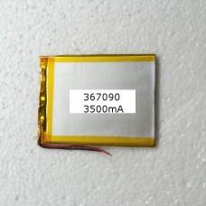 АКБ для планшета 367090 аккумулятор универсальная 3500мАч