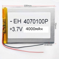 АКБ для планшета 4070100 аккумулятор универсальная 4000мАч