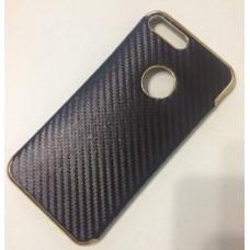 Чехол iPhone 7 Plus 7+ силиконовый черный золото Fashion Carbon