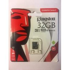 Micro SDHC карта памяти Kingston 32 Гб (80 mb/s 10 class) + бокс в подарок