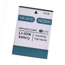 Аккумулятор Nomi i4510 батарея NB-4510 Beat M 1600 мАч