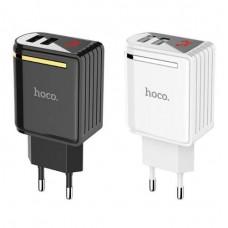 СЗУ Hoco C39A 2xUSB 2.4A LED